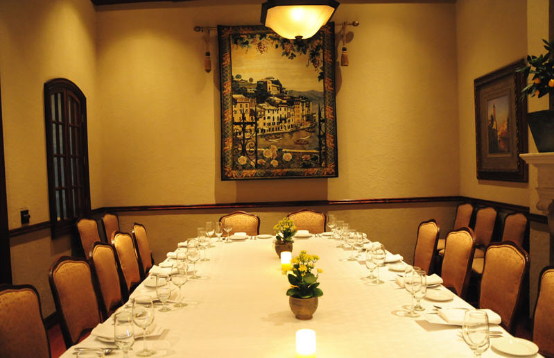Sorrento's Fireplace room for Private dining and Party venues in Houston